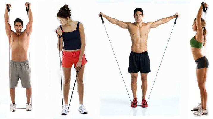 Упражнения с резинкой для женщин в домашних условиях: для ягодиц ...   400x716
