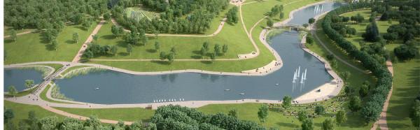 Парк олимпийской деревни после реконструкции