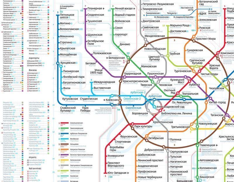 В метро обновят схемы линий в