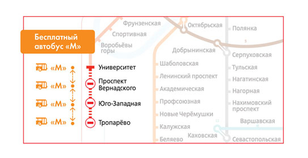 """до станции """"Тропарево"""""""